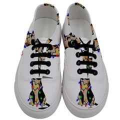 Meowy Christmas Men s Classic Low Top Sneakers