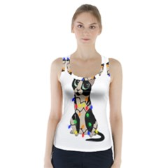 Meowy Christmas Racer Back Sports Top