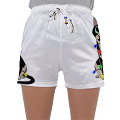 Meowy Christmas Sleepwear Shorts