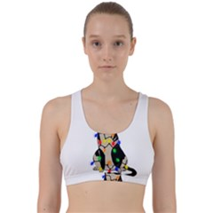 Meowy Christmas Back Weave Sports Bra