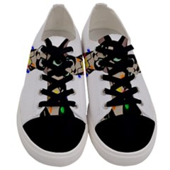 Meowy Christmas Men s Low Top Canvas Sneakers