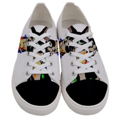 Meowy Christmas Women s Low Top Canvas Sneakers