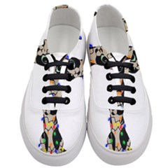Meowy Christmas Women s Classic Low Top Sneakers
