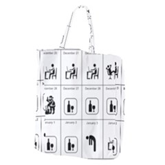 Holidays Giant Grocery Zipper Tote