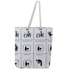 Holidays Full Print Rope Handle Tote (large)