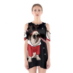 Pug Xmas Shoulder Cutout One Piece