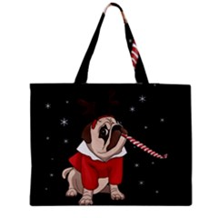 Pug Xmas Medium Tote Bag