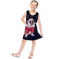 Pug Xmas Kids  Tunic Dress