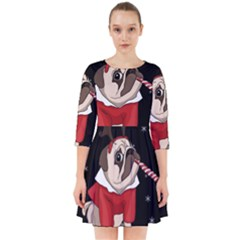 Pug Xmas Smock Dress
