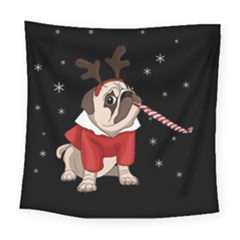Pug Xmas Square Tapestry (large)