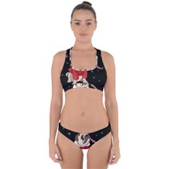 Pug Xmas Cross Back Hipster Bikini Set