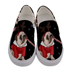 Pug Xmas Women s Canvas Slip Ons