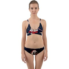 Pug Xmas Wrap Around Bikini Set