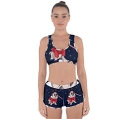 Pug Xmas Racerback Boyleg Bikini Set
