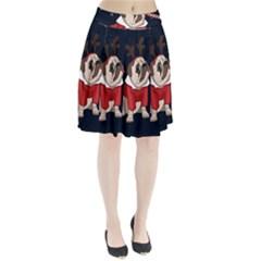 Pug Xmas Pleated Skirt