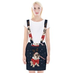 Pug Xmas Braces Suspender Skirt