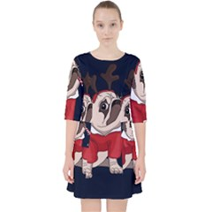 Pug Xmas Pocket Dress