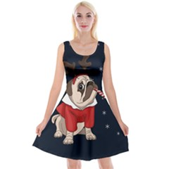 Pug Xmas Reversible Velvet Sleeveless Dress