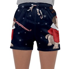 Pug Xmas Sleepwear Shorts