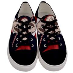 Pug Xmas Men s Low Top Canvas Sneakers