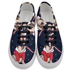 Pug Xmas Women s Classic Low Top Sneakers