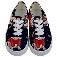 Pug Xmas Kids  Classic Low Top Sneakers