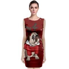 Pug Xmas Classic Sleeveless Midi Dress