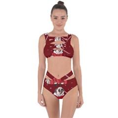 Pug Xmas Bandaged Up Bikini Set