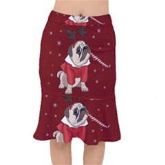 Pug Xmas Mermaid Skirt