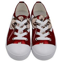 Pug Xmas Kids  Low Top Canvas Sneakers