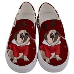 Pug Xmas Men s Canvas Slip Ons