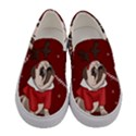 Pug Xmas Women s Canvas Slip Ons View1