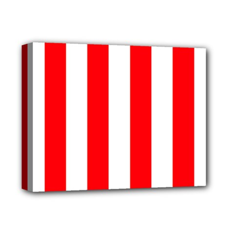 Wide Red And White Christmas Cabana Stripes Deluxe Canvas 14  X 11