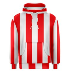 Wide Red And White Christmas Cabana Stripes Men s Pullover Hoodie