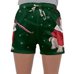 Pug Xmas Sleepwear Shorts