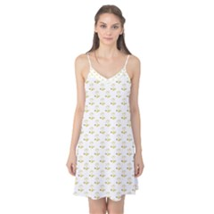Gold Scales Of Justice On White Repeat Pattern All Over Print Camis Nightgown