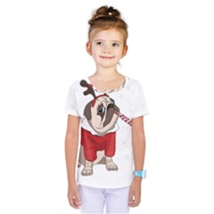 Pug Xmas Kids  One Piece Tee