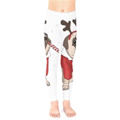 Pug Xmas Kids  Legging