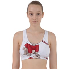 Pug Xmas Back Weave Sports Bra