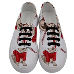 Pug Xmas Men s Classic Low Top Sneakers