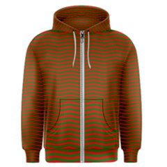 Christmas Red And Green Chevron Zig Zag Stripes Men s Zipper Hoodie
