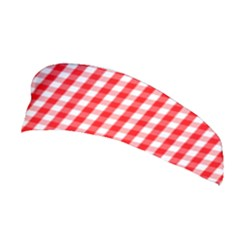 Large Christmas Red And White Gingham Check Plaid Stretchable Headband