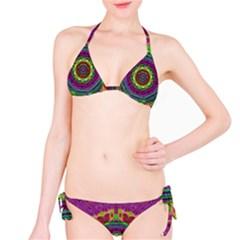 Mandala In Heavy Metal Lace And Forks Bikini Set
