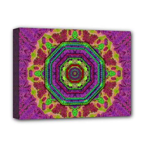Mandala In Heavy Metal Lace And Forks Deluxe Canvas 16  X 12