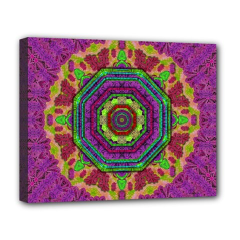 Mandala In Heavy Metal Lace And Forks Deluxe Canvas 20  X 16