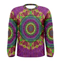 Mandala In Heavy Metal Lace And Forks Men s Long Sleeve Tee