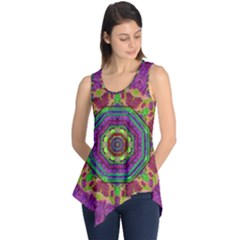 Mandala In Heavy Metal Lace And Forks Sleeveless Tunic