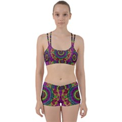 Mandala In Heavy Metal Lace And Forks Women s Sports Set