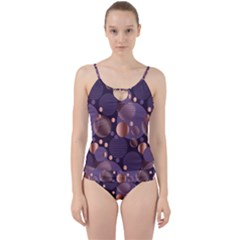 Random Polka Dots, Fun, Colorful, Pattern,xmas,happy,joy,modern,trendy,beautiful,pink,purple,metallic,glam, Cut Out Top Tankini Set