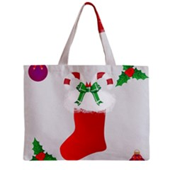 Christmas Stocking Zipper Mini Tote Bag